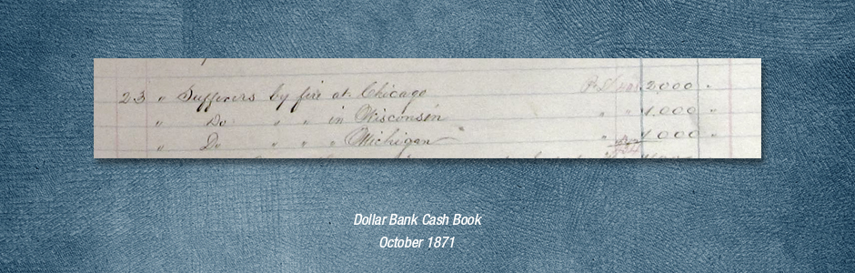 Chicago Fire Cash Book October 1871